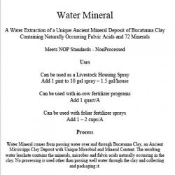 water mineral